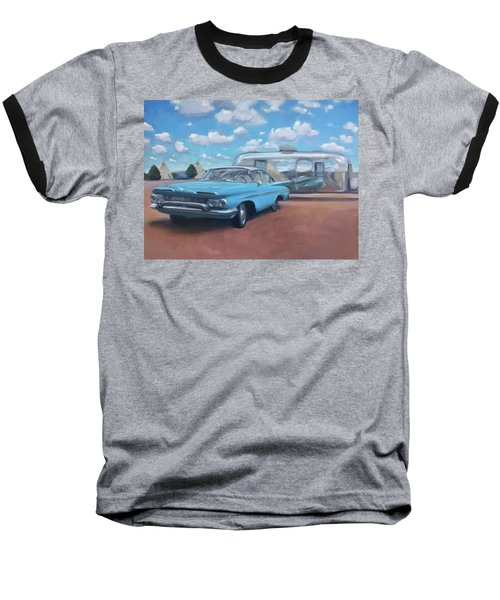 The Teepee Motel, Route 66 Baseball T-Shirt