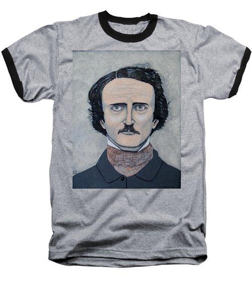 The Telltale Heart Of Edgar Allen Poe. Baseball T-Shirt by Ken Zabel