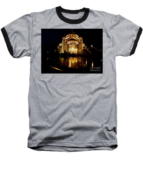 The Temple Of Saint Sava In Belgrade  Baseball T-Shirt by Danica Radman