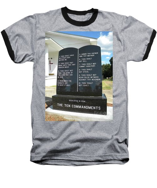 The Ten Commandments Baseball T-Shirt