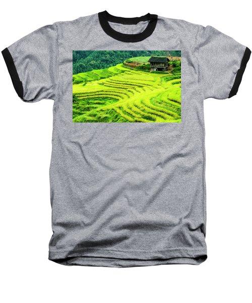 The Terraced Fields Scenery In Autumn Baseball T-Shirt