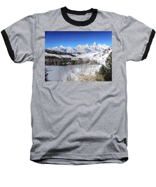 The Tetons From Gros Ventre Valley Baseball T-Shirt