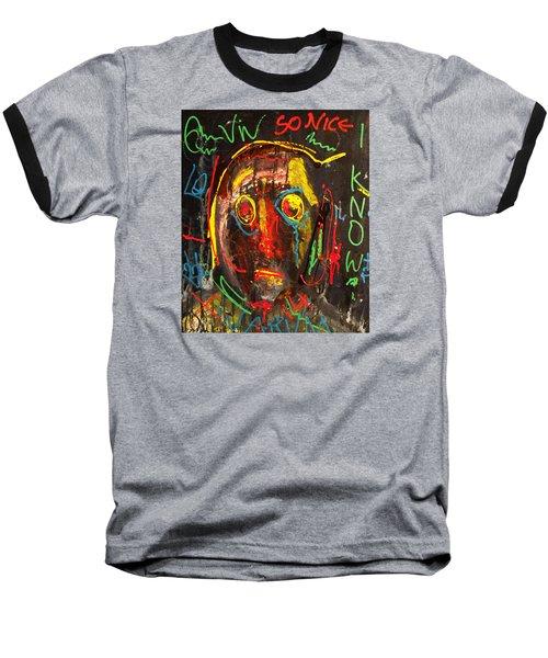 A Beauty Never Dies ........... Baseball T-Shirt by Sir Josef - Social Critic -  Maha Art
