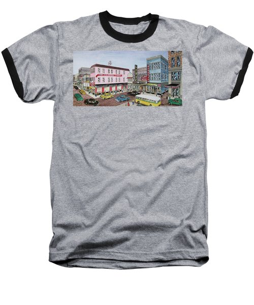 The Theater District Portsmouth Ohio 1948 Baseball T-Shirt by Frank Hunter