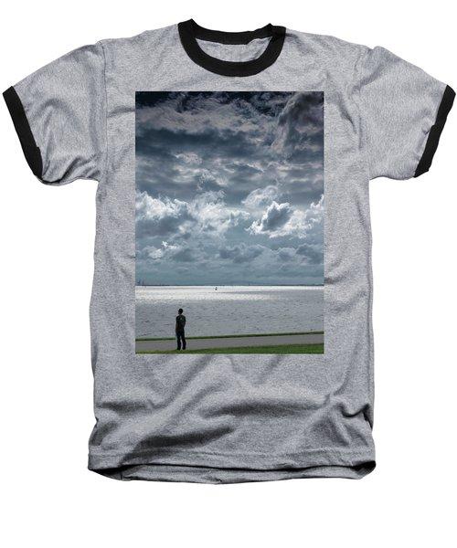 The Threatening Storm Baseball T-Shirt by Steven Richman