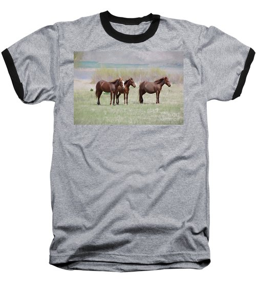 Baseball T-Shirt featuring the photograph The Three Amigos by Benanne Stiens
