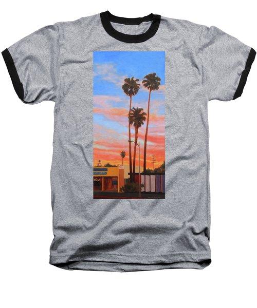 The Three Palms Baseball T-Shirt by Andrew Danielsen