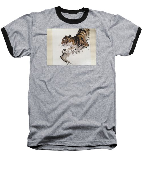 The Tiger At Rest Baseball T-Shirt by Fereshteh Stoecklein