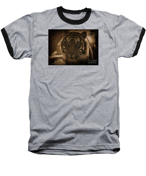 Baseball T-Shirt featuring the photograph The Tiger by Lisa L Silva