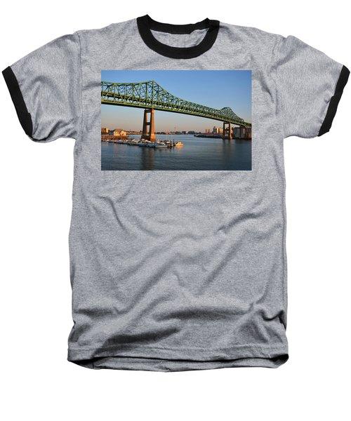 The Tobin Bridge Into The Sunset Chelsea Yacht Club Baseball T-Shirt