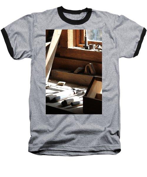 Baseball T-Shirt featuring the photograph The Tools by Laddie Halupa