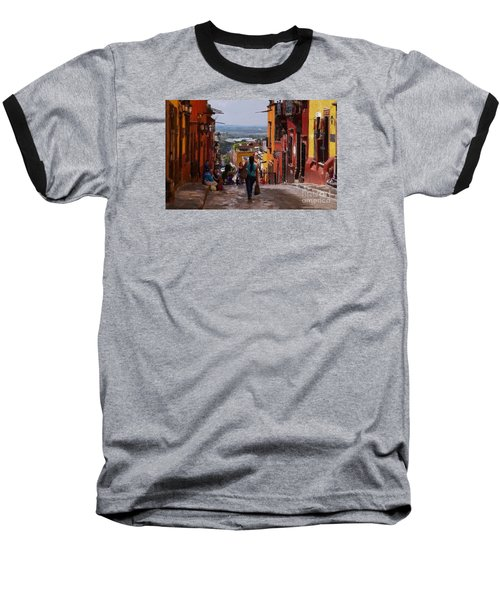 The Top Of Calle Umaran Baseball T-Shirt by John  Kolenberg