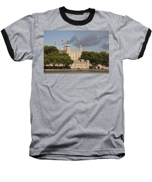 The Tower Of London. Baseball T-Shirt by Christopher Rowlands