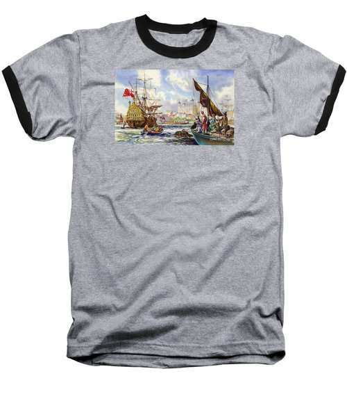 The Tower Of London In The Late 17th Century  Baseball T-Shirt by English School