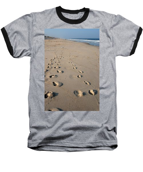 The Trails Of Footprints - Jersey Shore Baseball T-Shirt
