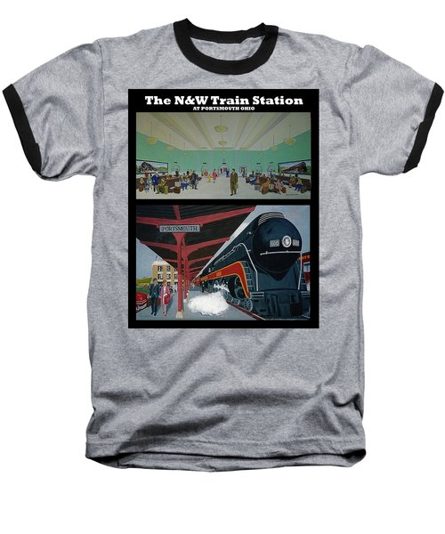 The Train Station At Portsmouth Ohio Baseball T-Shirt by Frank Hunter