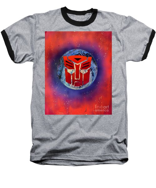 The Transformers Baseball T-Shirt by Justin Moore