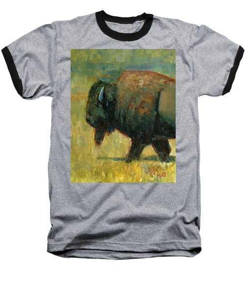 Baseball T-Shirt featuring the painting The Traveler by Billie Colson
