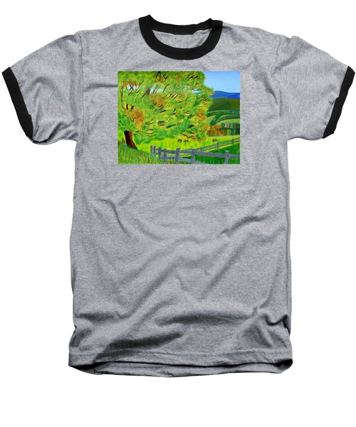 Baseball T-Shirt featuring the painting The Tree Of Joy by Magdalena Frohnsdorff