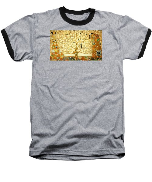 The Tree Of Life Baseball T-Shirt by Gustav Klimt