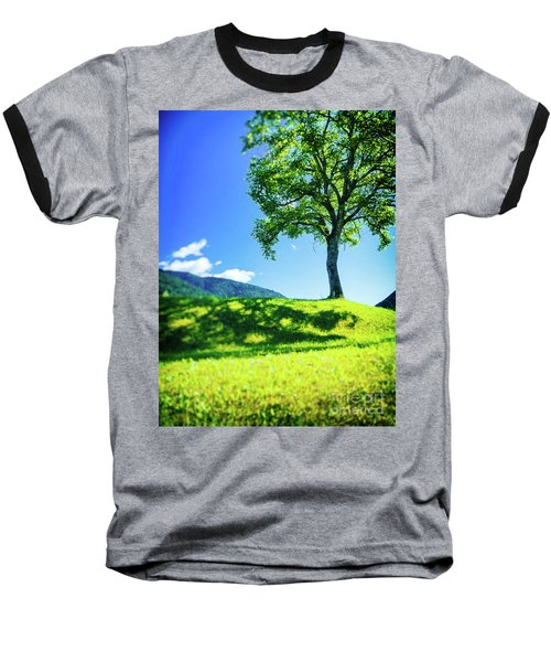 Baseball T-Shirt featuring the photograph The Tree On The Hill by Silvia Ganora