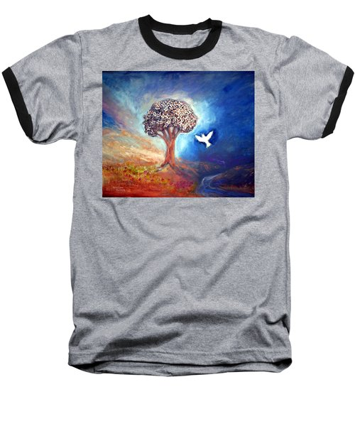 Baseball T-Shirt featuring the painting The Tree by Winsome Gunning