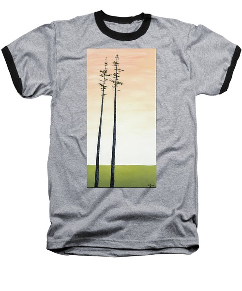 The Trees Are So Tall Here   Baseball T-Shirt by Carolyn Doe