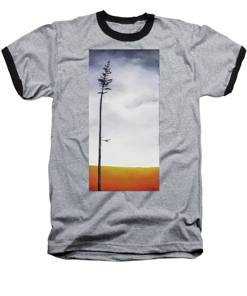 The Trees Are So Tall Here  II     Baseball T-Shirt by Carolyn Doe