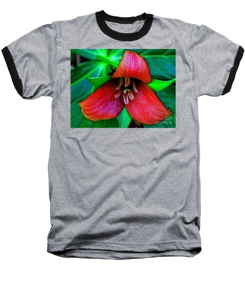 Baseball T-Shirt featuring the photograph The Trillium by Elfriede Fulda