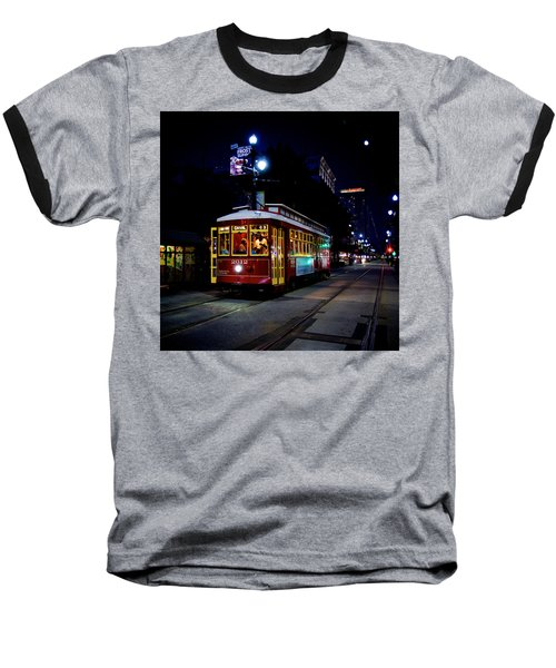 Baseball T-Shirt featuring the photograph The Trolley by Evgeny Vasenev