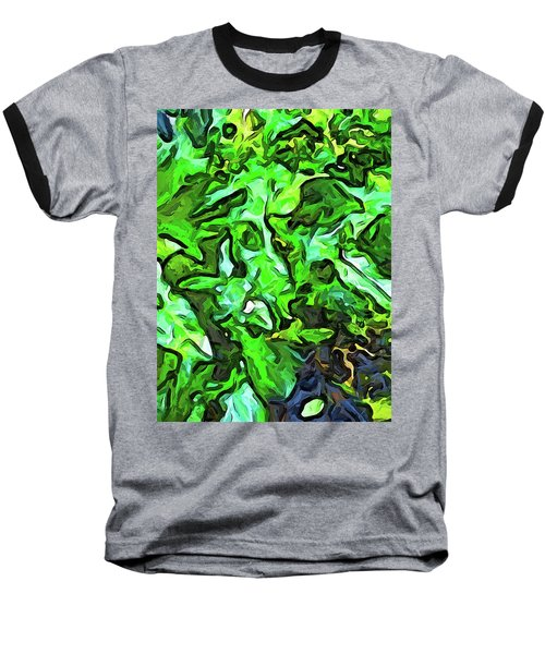The Tropical Green Leaves With The Wings Baseball T-Shirt