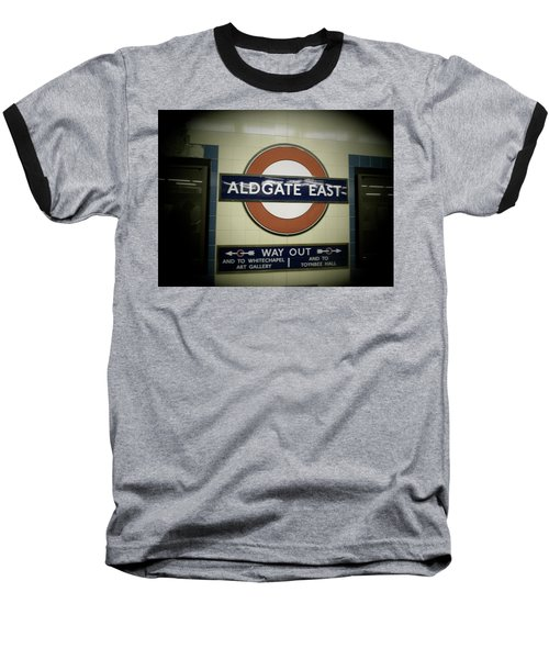 Baseball T-Shirt featuring the photograph The Tube Aldgate East by Christin Brodie