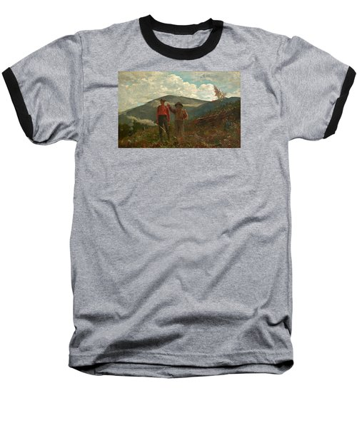 Baseball T-Shirt featuring the painting The Two Guides by Winslow Homer