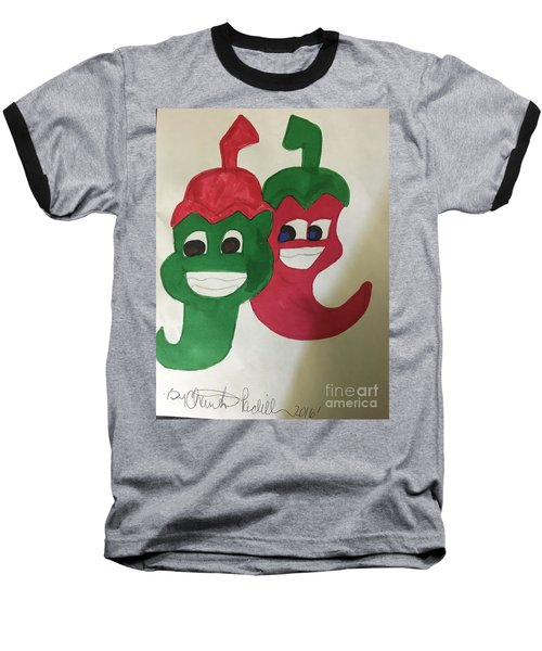 The Two Hot Peppers  Baseball T-Shirt