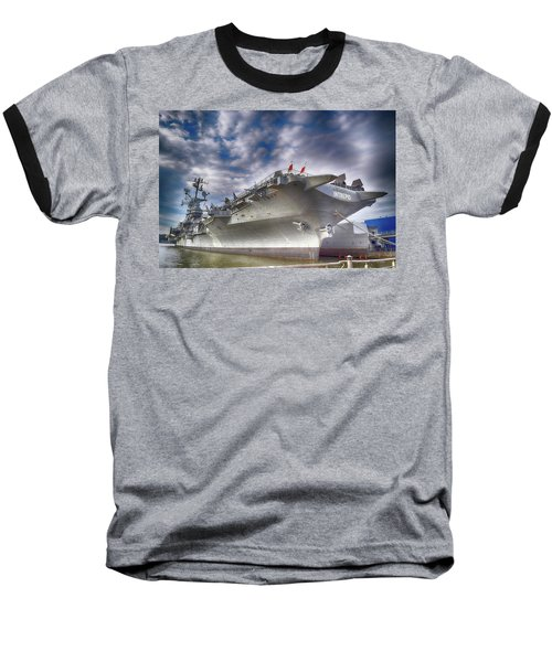 The U S S Intrepid  Baseball T-Shirt