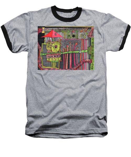The Umbrella Roof Baseball T-Shirt by Sandra Church