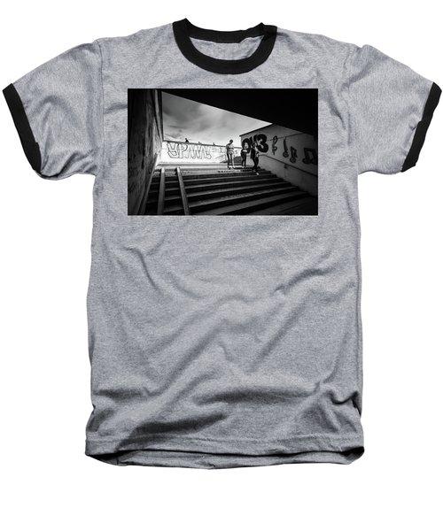 The Underpass Baseball T-Shirt by John Williams