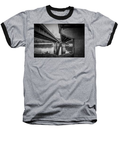 The Underside Of Two Bridges Baseball T-Shirt