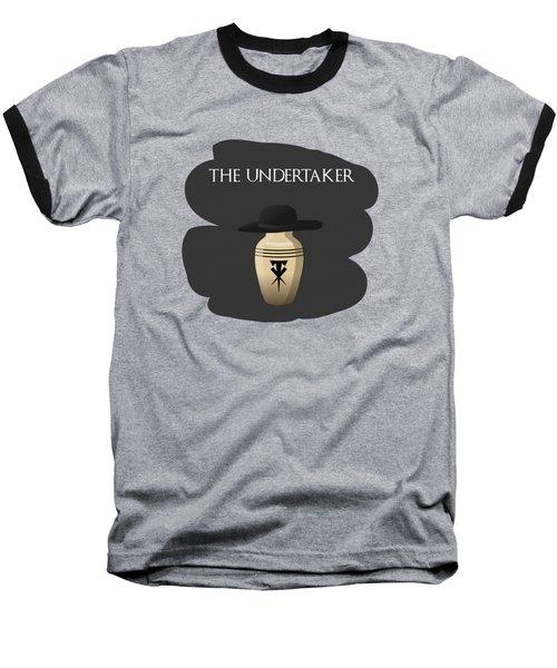 The Undertaker Retires Baseball T-Shirt by Keshava Shukla
