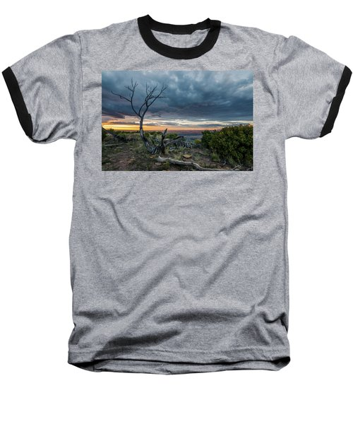 Baseball T-Shirt featuring the photograph The Unfolding Drama by Margaret Pitcher