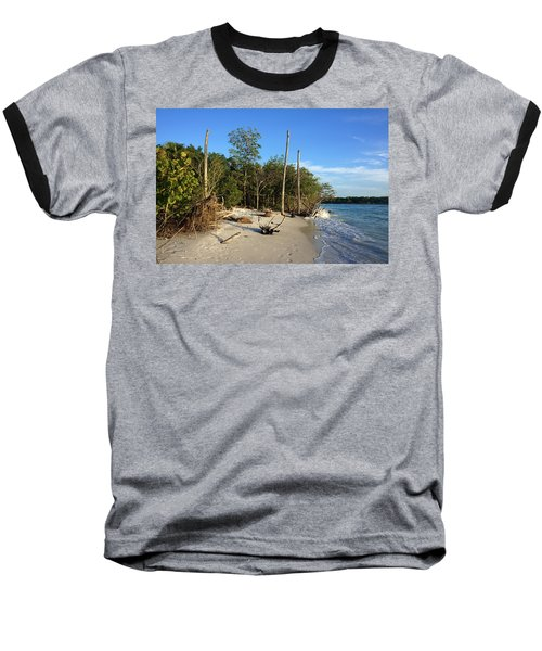 The Unspoiled Beauty Of Barefoot Beach In Naples - Landscape Baseball T-Shirt
