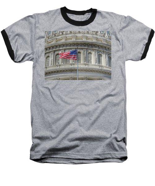 The Us Capitol Building - Washington D.c. Baseball T-Shirt