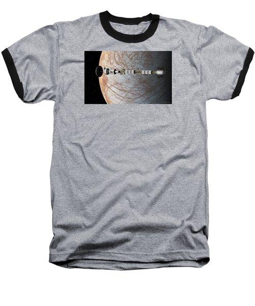 The Uss Savannah In Orbit Around Europa Baseball T-Shirt