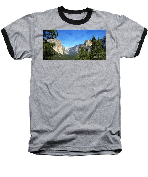 The Valley Of Inspiration-yosemite Baseball T-Shirt