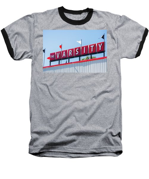 Baseball T-Shirt featuring the photograph The Varsity Sign by Parker Cunningham