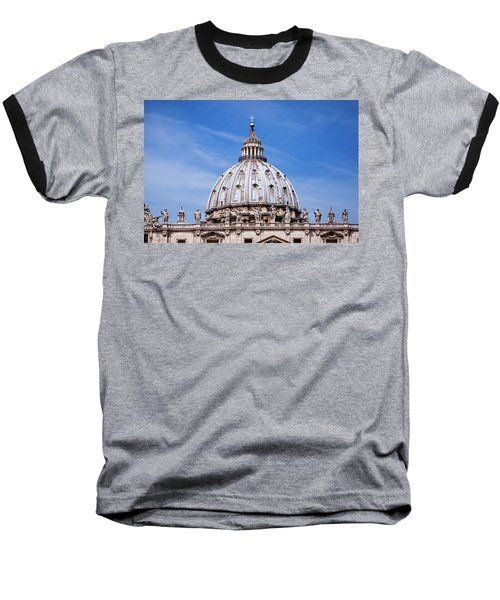 The Vatican Baseball T-Shirt by Nick  Shirghio