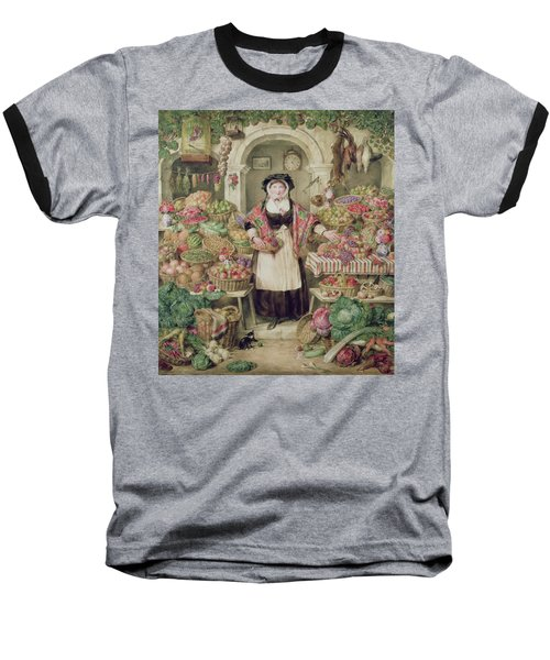 The Vegetable Stall  Baseball T-Shirt by Thomas Frank Heaphy