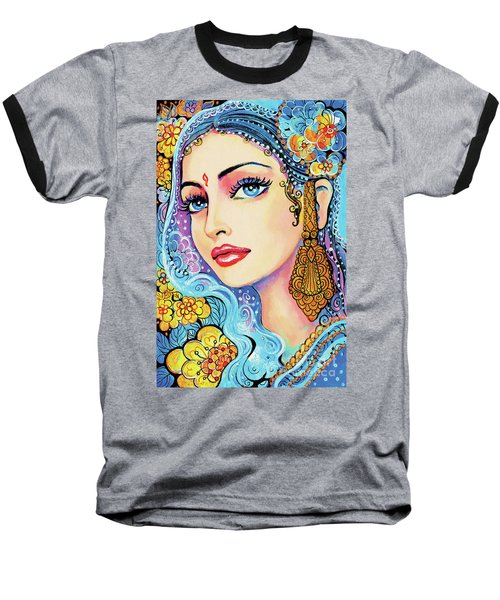 Baseball T-Shirt featuring the painting The Veil Of Aish by Eva Campbell