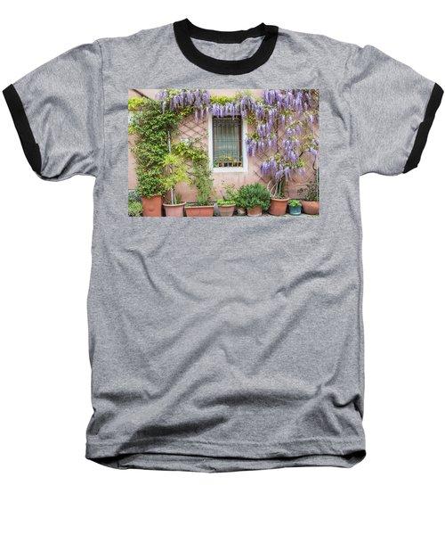 The Venice Italy Window  Baseball T-Shirt