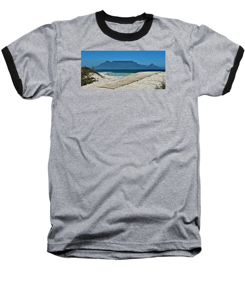 Baseball T-Shirt featuring the photograph The View At Table Mountain by Werner Lehmann